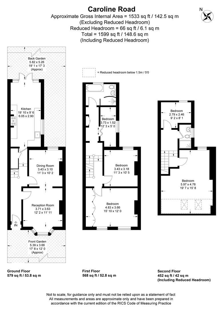 Floorplan for Caroline Road, Wimbledon